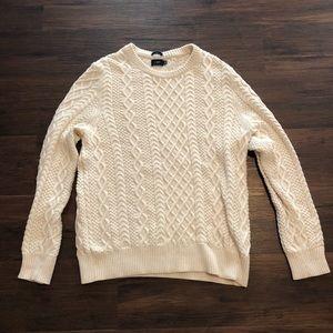 J. Crew Slim Fisherman Cable Crewneck Sweater   L